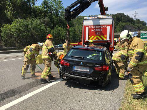 Der Unfall führte zu einem länger anhaltenden Stau.VOL.AT/Rauch