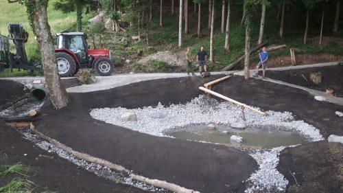 Der Wasserspielplatz wurde nun fertiggestellt.gemeinde