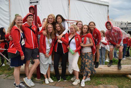 Die dänischen Sportler wurden am Sonntag im Festzelt willkommen geheißen. Veronika Hotz