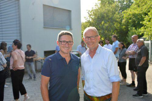 Die Gastgeber: Gerhard Müller und Vizebürgermeister Franz Kopf.