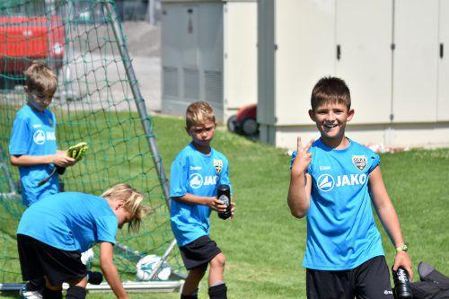 Die Kinder hatten bei der bereits vierten Ausgabe des Fußballcamps sichtlich ihren Spaß. Scr altach