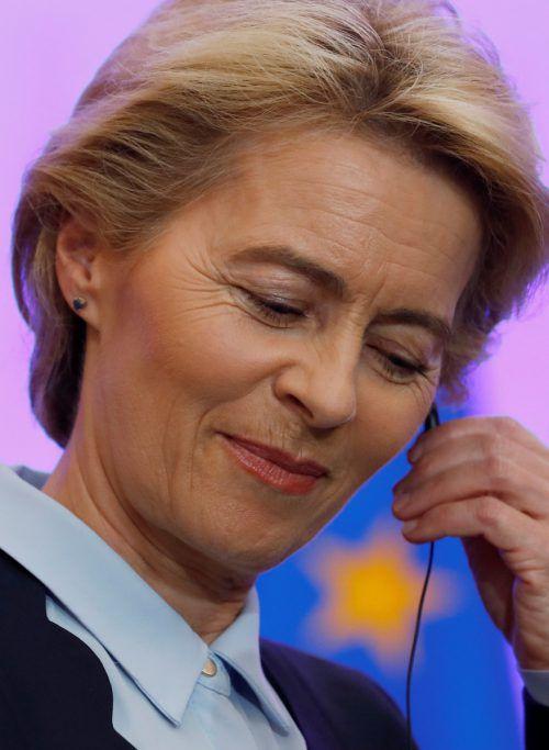 Die künftige Kommissionschefin muss wohl mit Gegenwind rechnen. reuters