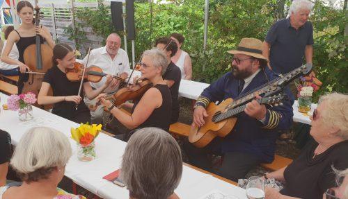 Die Messis Cellogruppe mit Prof. Martin Ortner.