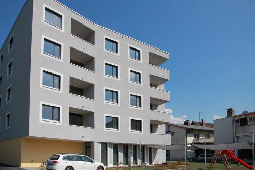 Die neue Wohnanlage in der Bahnhofstraße Lustenau. Foto: Rhomberg Bau