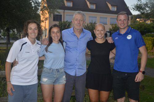 Die neuen Vorstandsmitglieder, v. l.: Valentina Steiner, Jessica Schwarzl, Walter Weiss, Verena Müller und Tobias Thies.verein