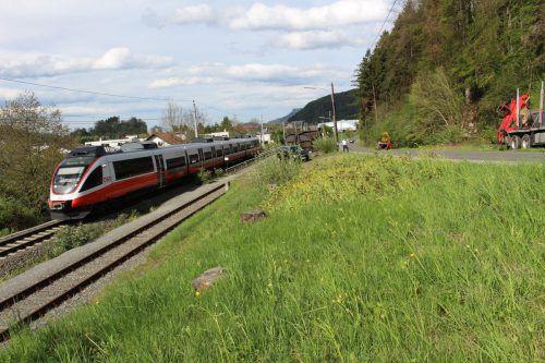 Die S-Bahn nach Buchs im Bereich der geplanten neuen Bahnhaltestelle Tisis-Tosters. Hier sollen täglich bis zu 1000 Menschen Ein- und Aussteigen. Heilmann