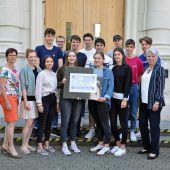 Schüler des BG Dornbirn zeigen soziale Ader