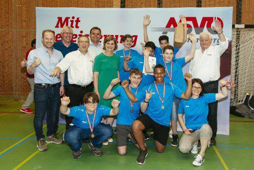 Die siegreiche Mannschaft der MS Gisingen-Oberau freute sich über den Landesmeistertitel.