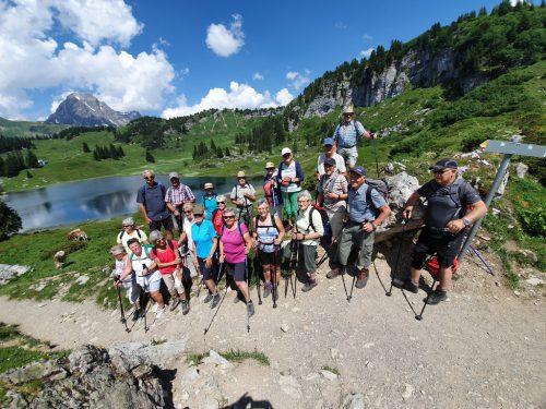 Die Teilnehmer der Hochgebirgswanderung. sb krumbach