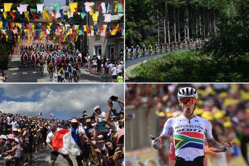 Die Tour de France verwandelt Frankreich in einen gigantischen Karneval.afp