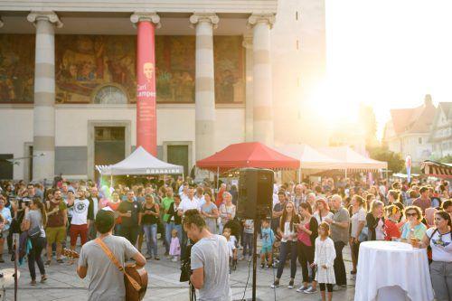 """Die Veranstaltung """"Laurenz"""" bietet ein außergewöhn-liches Genusserlebnis. Dornbirn Tourismus/Rhomberg"""