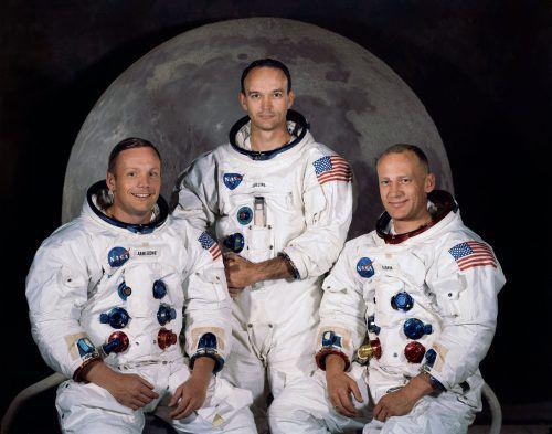Drei Männer, die Geschichte schrieben: Neil Armstrong, Michael Collins und Buzz Aldrin.
