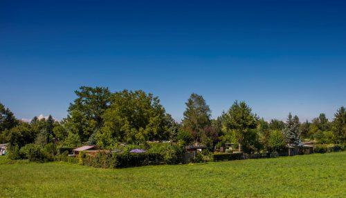 Eine Schrebergartensiedlung in Hohenems: ein Grundstück, mehrere Hütten. Für sie muss nun eine Lösung gefunden werden. VN/Paulitsch
