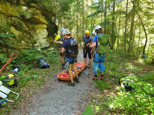 Erst kürzlich führte die Bergrettung Rankweil unweit des Unfallsortes im Gemeindegebiet Laterns eine Bergeübung durch. bergrettung Rankweil