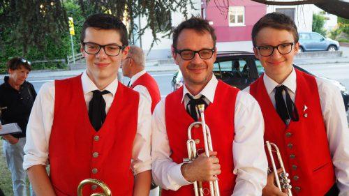 Fabian, Jochen und Elias von der Bürgermusik Rankweil.