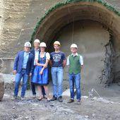 Tunnelbau in Au im Gange