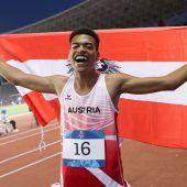 Historische Goldmedaille für Oluwatosin Ayodeji bei den EYOF-Spielen in Baku. C1