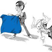 Blaues Tuch!