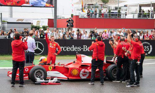 Für die Ausfahrt von Mick Schumacher gab es in Hockenheim viel Applaus.apa