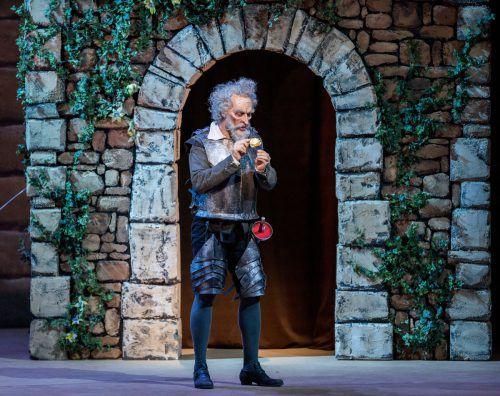 """Gábor Bretz debütiert in der Titelrolle der Oper """"Don Quichotte"""" von Massenet. Die Premiere findet am Donnerstagabend im Bregenzer Festspielhaus statt. VN/Stiplovsek"""