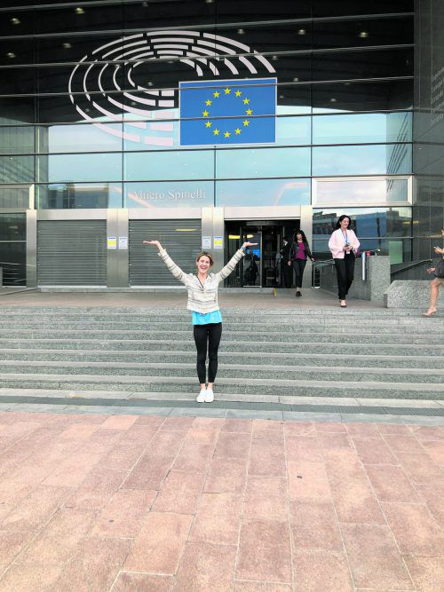 Gamon sitzt für die Neos im Europaparlament und im Industrieausschuss. VN/Prock