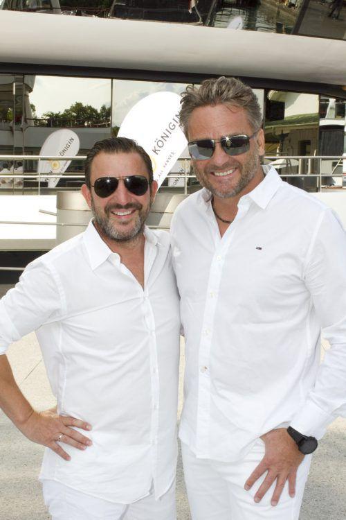 Gastgeber Lukas Marberger (l.) und Harald Otti.