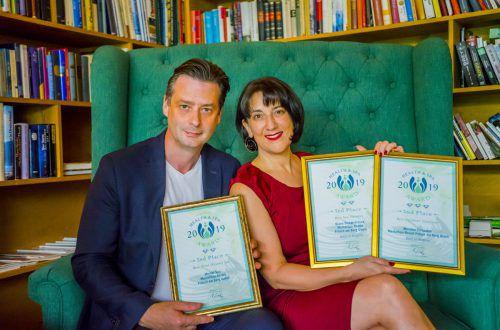 Gastgeber Thomas Fritsch und Spa-Managerin Diana Sicher-Fritsch. fritsch