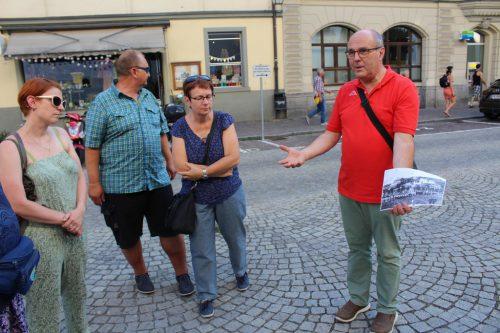 Georg Fink informierte über den Weinbau in Feldkirch.