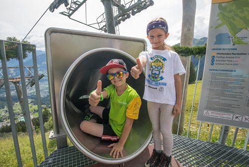 VN Familienerlebnistag Golm,Bild zeigt: Simon (9) und Sarah (7) aus Frastanz