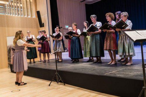 """Große Vielfalt und schöne Klänge standen beim """"Frouachörle"""" auf dem Programm.Miriam Simma"""