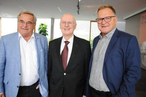 Hubert Regner, Alt-Rektor Guntram Feurstein und Ulrich Herburger.