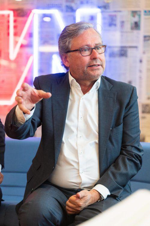 """""""Ich gehe davon aus, dass im Falle einer Koalition die ÖVP die stärkere Kraft ist und sie keine Ibiza-Gedanken ins Medienkapitel hineinschreiben will"""", sagt Wrabetz. VN"""