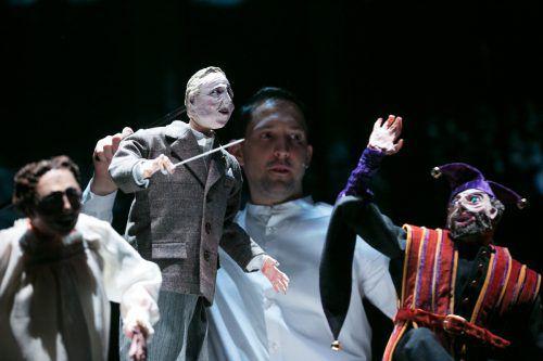 """Im Festspieljahr 2018 führte Nikolaus Habjan Paulus Hochgatterers Stück """"Böhm"""" in Bregenz auf, am Sonntag wird die Puppe in einer neuen Szene zu sehen sein. l. spuma/schauspielhaus graz"""