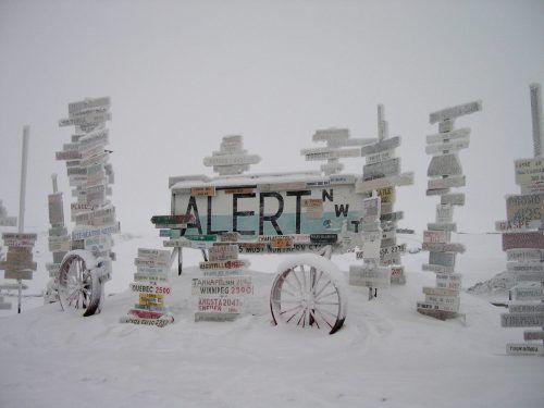Im kanadischen Alert am Arktischen Ozean wurden 21 Grad gemessen. AFP