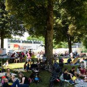 Der familienfreundliche Jazzbrunch beim poolbar-Festival