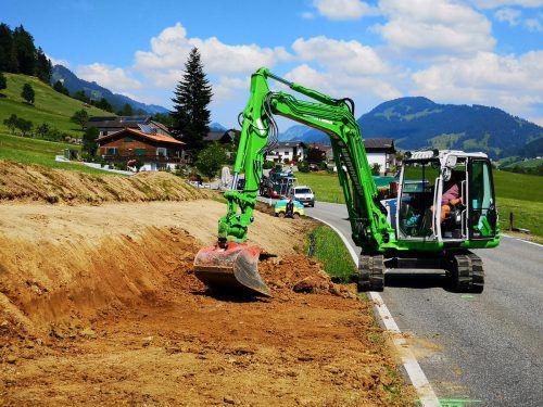 In Lingenau wird das Gehwegenetz Richtung Hittisau erweitert. me
