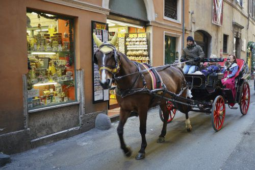 In Rom sind noch über 40 Pferdekutschen in der Innenstadt unterwegs. AP