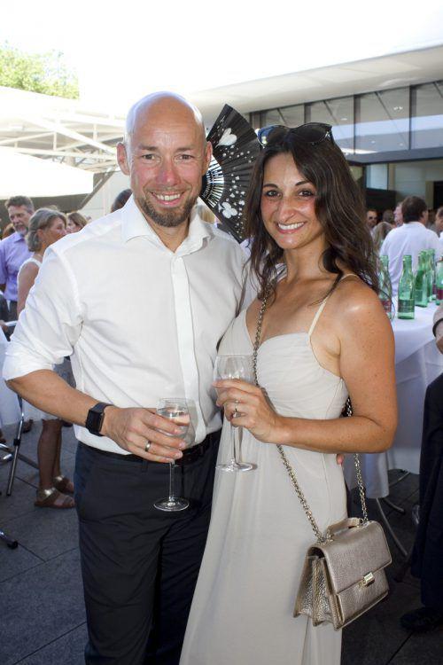 In Sommerstimmung: Johannes und Simone Sturn (Team Agentur).