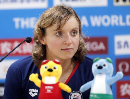 Katie Ledecky hat bei der WM auf vier Distanzen, von 200 bis 1500 m, genannt. AP