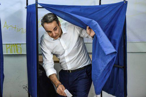 Kyriakos Mitsotakis hat die Wahl für seine Partei entschieden. afp