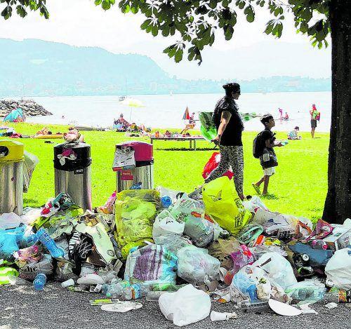 Littering-Problem in Lochau 2018: drastische Maßnahmen wurden nötig.