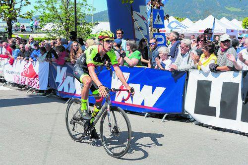 Maximilian Kuen spielte bei den Erlauftager Radsporttagen seine Hochform aus, fuhr in zwei Rennen aufs Stockerl. P. Hämmerle