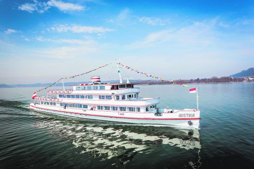Mitspielen und gewinnen: Am 29. Juli 2019 findet der exklusive VN-Familienausflug auf dem Nostalgieschiff MS Austria statt.reinhard fasching