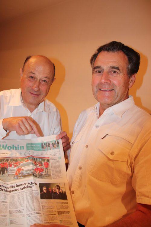 Musiker Peter Hirschfeld und Wilfried Übelher.