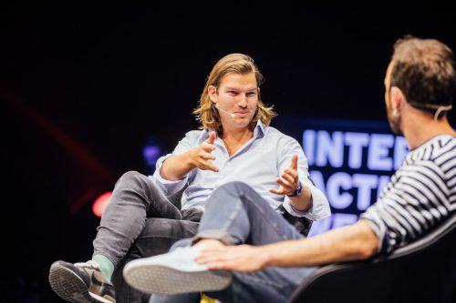 N26-Mitbegründer Valentin Stalf im Juni auf der Interactive West. VN/Sams