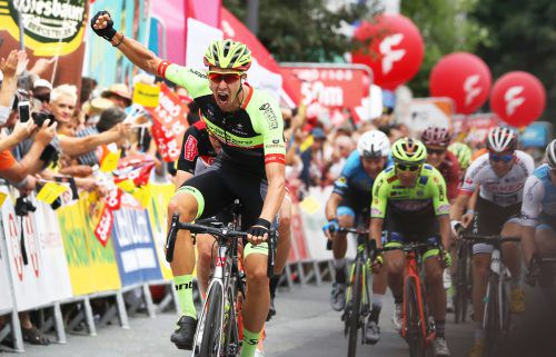 Nach dem Prolog konnte der Deutsche Jannik Steimle vom Team Vorarlberg auch über den Sieg auf der sechsten Etappe jubeln. gepa