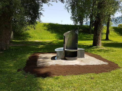 Neu ist dieser Trinkbrunnen am Lustenauer Alten Rhein. Gemeinde