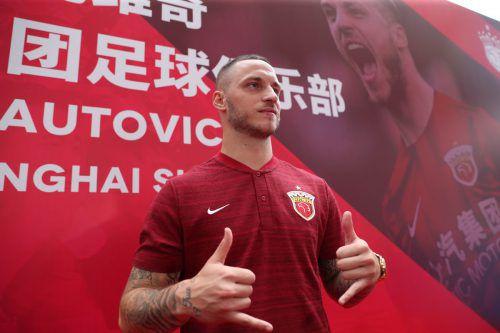 Marko Arnautovic traf gleich bei seinem ersten Pflichtspiel für Schanghai. afp