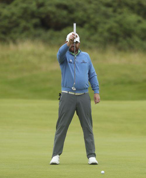 Nimmt Maß, um bei den British Open an der Spitze zu bleiben: John Bradley Holmes führte nach zwei Runden zusammen mit Shane Lowry das Feld an.ap