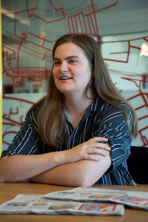 Nina Mathies hat sich im abgelaufenen Schuljahr mit großem Einsatz für die Schüler eingesetzt. Die Matura absolvierte sie mit Auszeichnung.